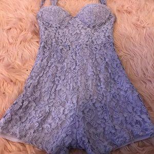 Nasty Gal Lavender Romper Dress